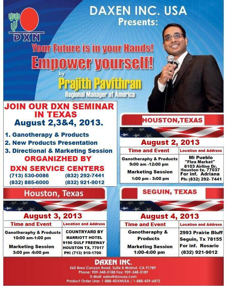 dxn texas houston usa seminar