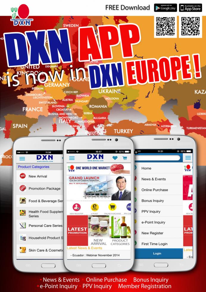 DXN APP DXN Europe