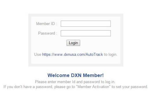 DXN USA member login