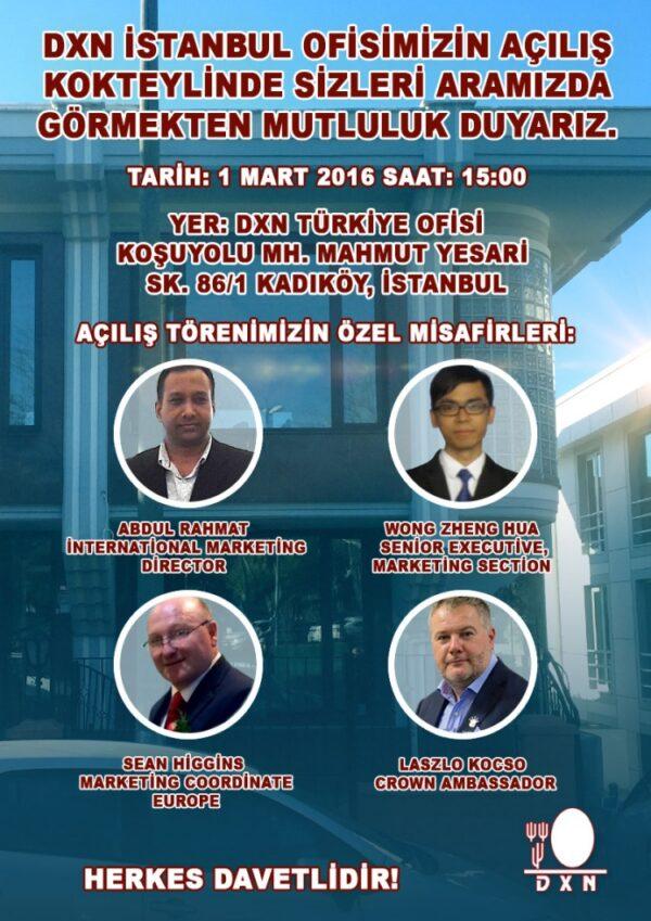 DXN Türkiye resmi açılış