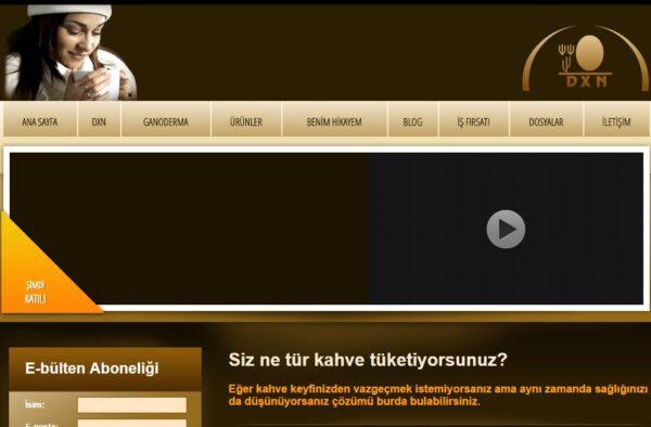 DXN Türkiye web sayfasını