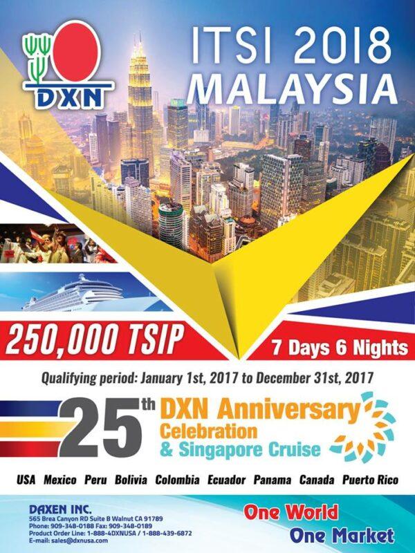 DXN TSI Program 2018 America