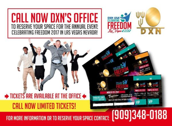 DXN USA celebtrating freedom tickets