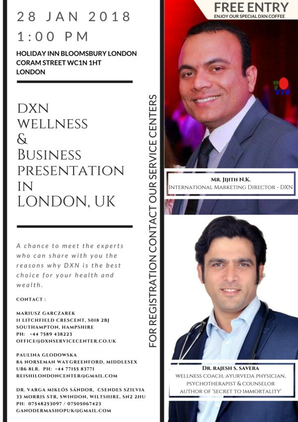 DXN UK Office Datas