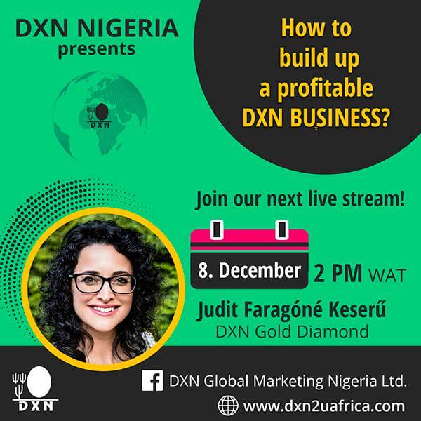 DXN Nigeria Facebook live