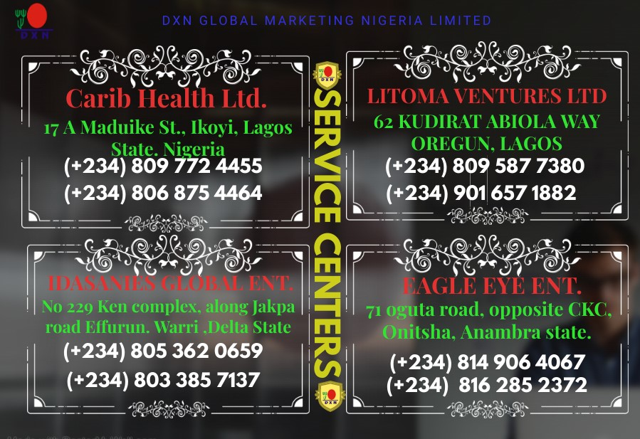 DXN Nigeria Service Centers